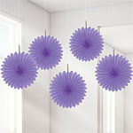 Purple Hanging Fans - 15.2cm