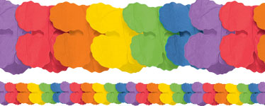 Rainbow Paper Garland Decoration - 3.7m