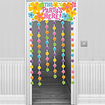 The Party's Here Summer Door Curtain 1.3m