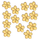 Gold Diamante Flowers