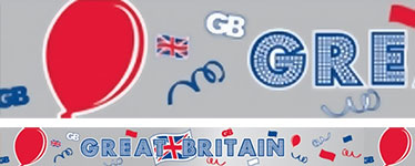Great Britain Foil Banner Roll - 15m