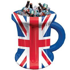 Union Jack Inflatable Mug Cooler - 45cm