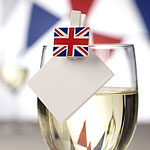 Union Jack Glass Decorations - Mini Wooden Pegs