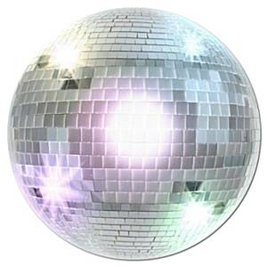 70's Disco Party Disco Ball Cutout