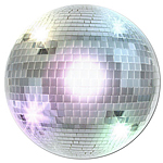 70's Disco Ball Cutout - 33.5cm