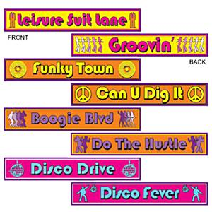 70's Disco Party Disco Street Sign Cutouts