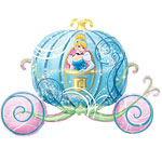 Cinderella Carriage Supershape Balloon - 33'' Foil