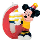 Mickey Mouse 6th Birthday Candle