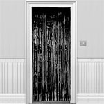 Metallic Door Curtain - Black - 2.4m