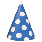 Blue Polka Dot Party Hats