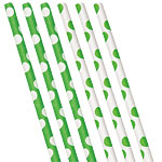 Green Polka Dot Paper Straws