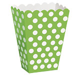 Green Polka Dot Treat Boxes