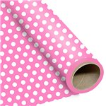 Pink Large Polka Dot Wrapping Paper - 1.5m Roll
