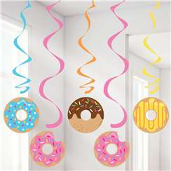 Doughnut Time Dizzy Dangler Hanging Decorations - 99cm