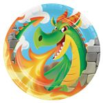 Dragon Plates - 23cm Paper Party Plates