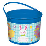 Blue Easter Bunny Plastic Bucket