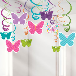 Butterfly Swirl Decorations - 60cm
