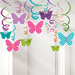 Butterfly Hanging Swirls - 60cm Easter Decoration