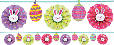 Easter Paper Fan Garland - 3.65m