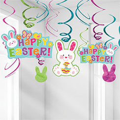 Happy Easter Hanging Swirls - 60cm Easter Decoration