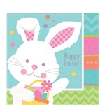 Hippity Hop Easter Bunny Luncheon Napkins - 2ply Paper