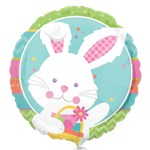 "Happy Hop Bunny Balloon - 18"" Foil"