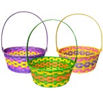 Large Multi-Coloured Easter Baskets - 30cm x 23cm
