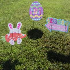 Easter Egg Hunt Garden Signs
