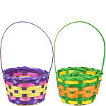 Small Multi-Coloured Easter Baskets - 18cm x 11.5cm