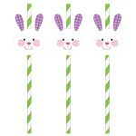 Easter Bunny Paper Straws