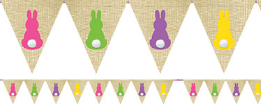 Bunny Bunting - 2.75m Easter Decoration