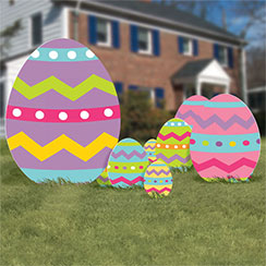 Easter Party Easter Egg Yard Signs - 55cm