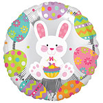 "Easter Bunny Enchantment Round Balloon - 18"" Foil"