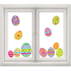 Glitter Easter Egg Window Decorations - 45cm