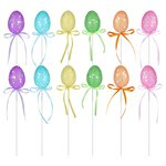 Glittery Easter Egg Picks - 21cm
