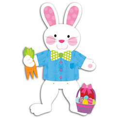 Jointed Card Rabbit - 88cm Easter Decoration