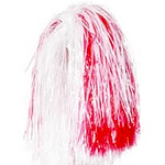 Red & White Large Pom Pom Fancy Dress