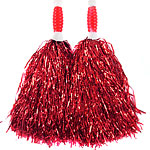 Red Standard Tinsel Pom Pom's