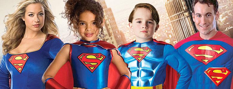 Superman u0026 Supergirl Fancy Dress Costumes  sc 1 st  Party Delights & Superman u0026 Supergirl Fancy Dress Costumes | Party Delights
