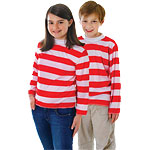 CHILD Red/White Striped Top - Small