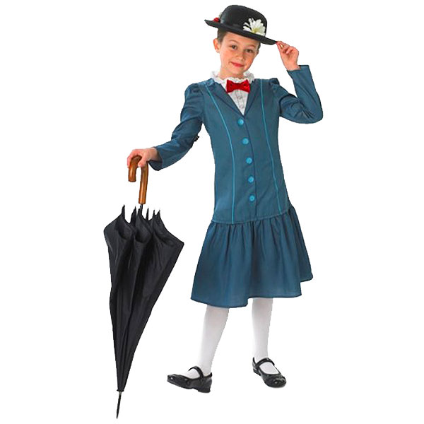 New Kids World Book Day Girls Mary Poppins Fancy Dress