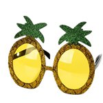 Gold Glitter Pineapple Novelty Glasses