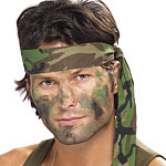 Camouflage Headband Fancy Dress