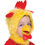 Child's Chicken Hood with Nose Fancy Dress