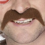 70's Moustache - Brown