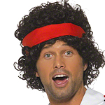 80's Tennis Player Wig - Black