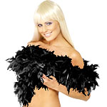 Deluxe Feather Boa Black Fancy Dress