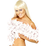 Deluxe Feather Boa White Fancy Dress
