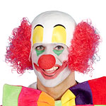 Clown Rubber Top Wig Fancy Dress