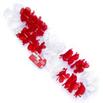 England Red and White Lei